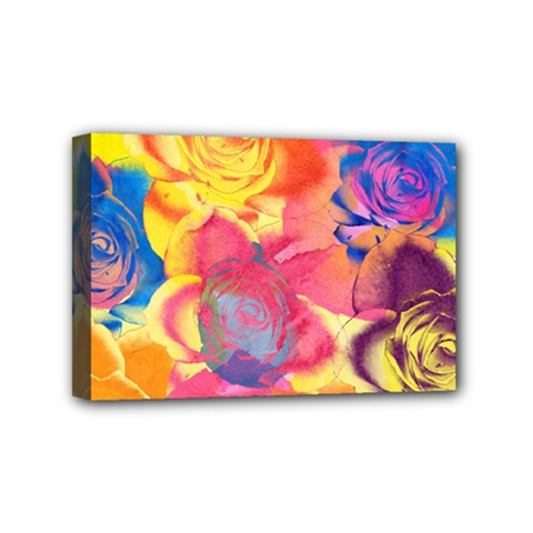Pop Art Roses Mini Canvas 6  x 4
