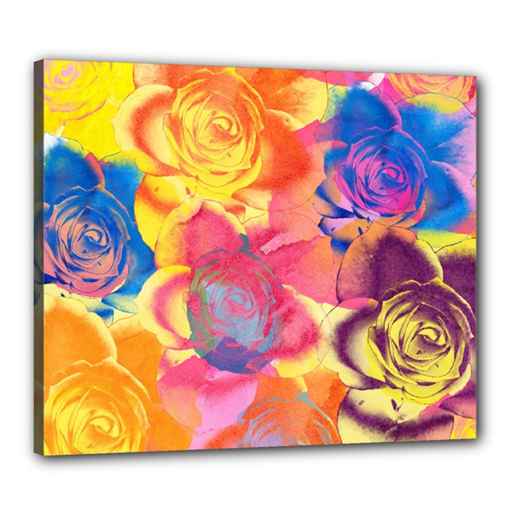 Pop Art Roses Canvas 24  x 20