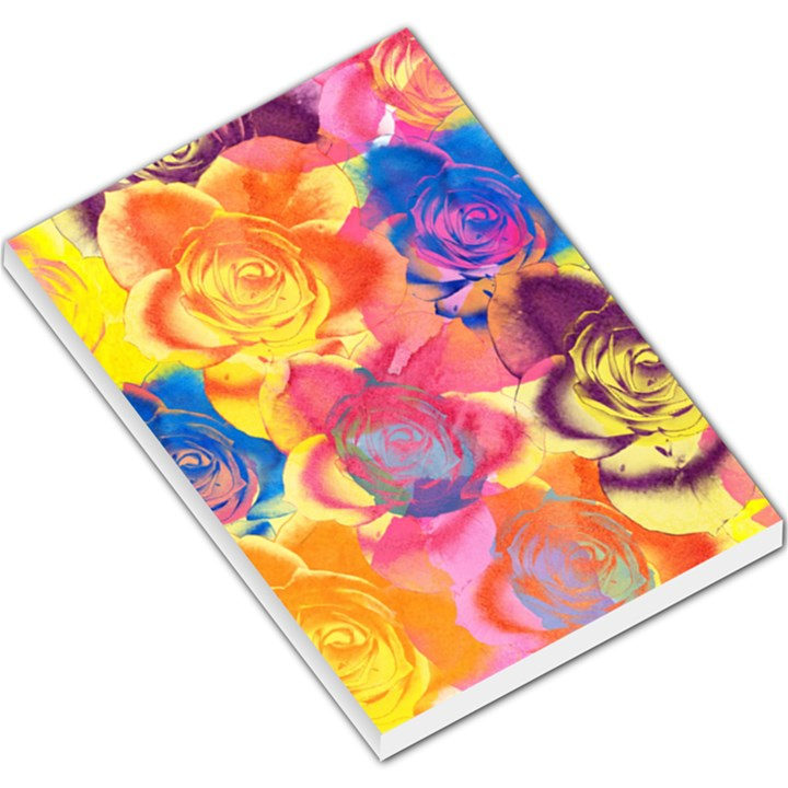 Pop Art Roses Large Memo Pads