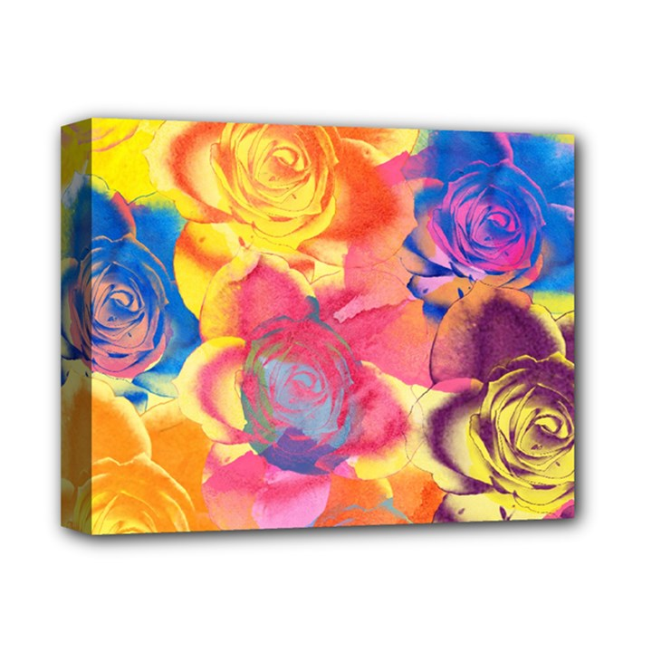 Pop Art Roses Deluxe Canvas 14  x 11