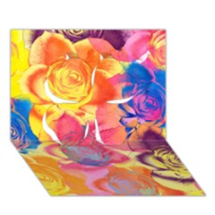 Pop Art Roses Clover 3D Greeting Card (7x5)