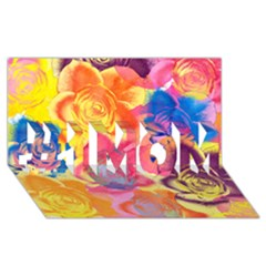 Pop Art Roses #1 MOM 3D Greeting Cards (8x4)