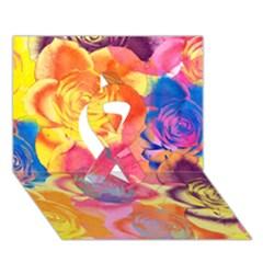 Pop Art Roses Ribbon 3D Greeting Card (7x5)