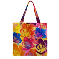 Pop Art Roses Grocery Tote Bag