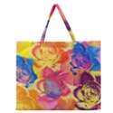 Pop Art Roses Zipper Large Tote Bag View1