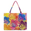 Pop Art Roses Medium Zipper Tote Bag View1
