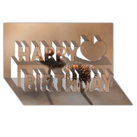 2  Verwelkte Kugeldistel Happy Birthday 3D Greeting Card (8x4)
