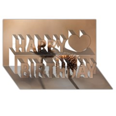 2  Verwelkte Kugeldistel Happy Birthday 3D Greeting Card (8x4)