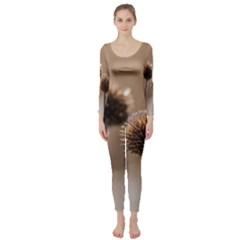 2  Verwelkte Kugeldistel Long Sleeve Catsuit
