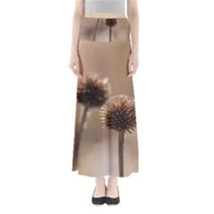 2  Verwelkte Kugeldistel Maxi Skirts