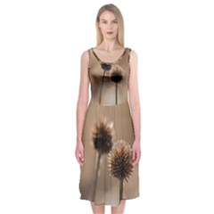 2  Verwelkte Kugeldistel Midi Sleeveless Dress