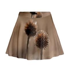 2  Verwelkte Kugeldistel Mini Flare Skirt