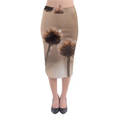 2  Verwelkte Kugeldistel Midi Pencil Skirt