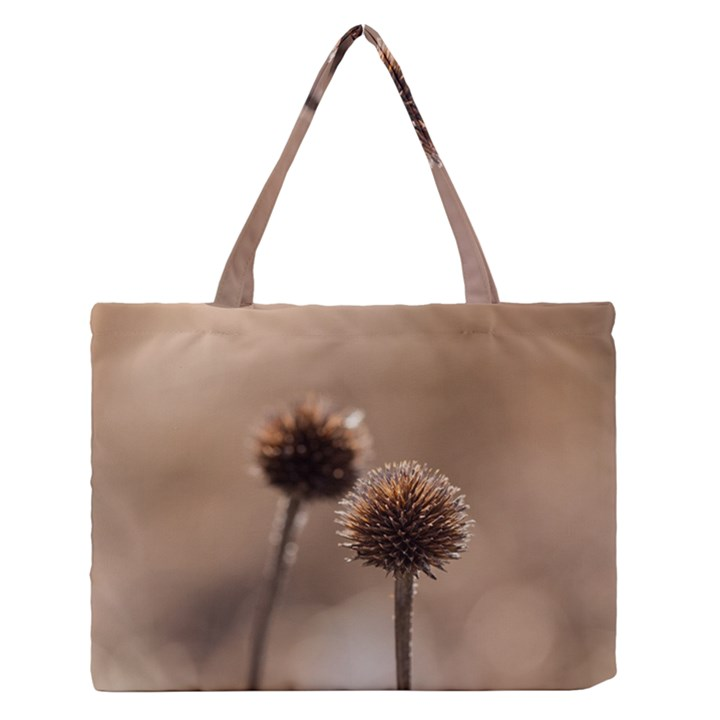 2  Verwelkte Kugeldistel Medium Zipper Tote Bag