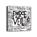 Pierce The Veil Music Band Group Fabric Art Cloth Poster Mini Canvas 4  x 4  View1