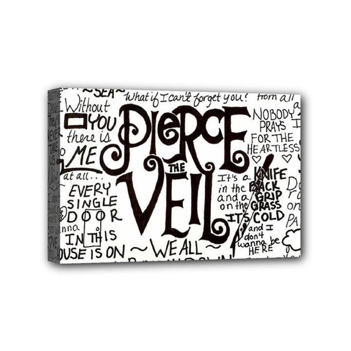 Pierce The Veil Music Band Group Fabric Art Cloth Poster Mini Canvas 6  x 4