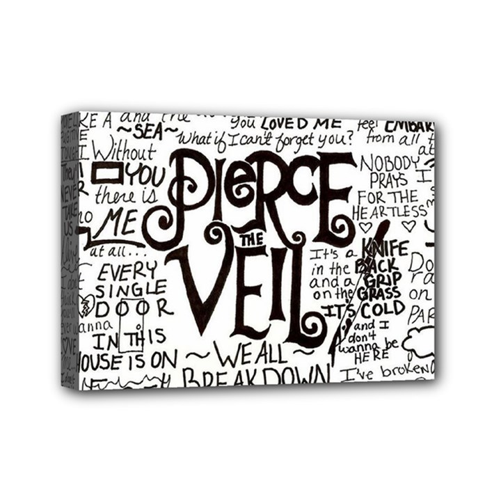 Pierce The Veil Music Band Group Fabric Art Cloth Poster Mini Canvas 7  x 5