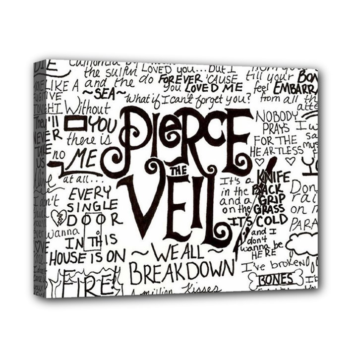 Pierce The Veil Music Band Group Fabric Art Cloth Poster Canvas 10  x 8