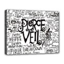 Pierce The Veil Music Band Group Fabric Art Cloth Poster Canvas 14  x 11  View1