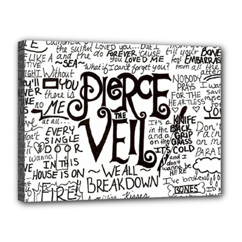 Pierce The Veil Music Band Group Fabric Art Cloth Poster Canvas 16  X 12