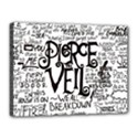 Pierce The Veil Music Band Group Fabric Art Cloth Poster Canvas 16  x 12  View1