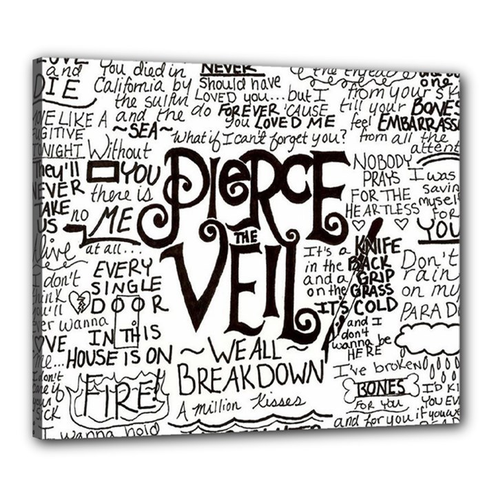 Pierce The Veil Music Band Group Fabric Art Cloth Poster Canvas 24  x 20