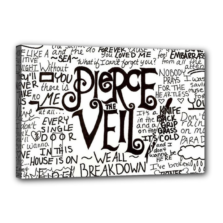 Pierce The Veil Music Band Group Fabric Art Cloth Poster Canvas 18  x 12