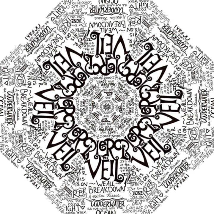 Pierce The Veil Music Band Group Fabric Art Cloth Poster Folding Umbrellas