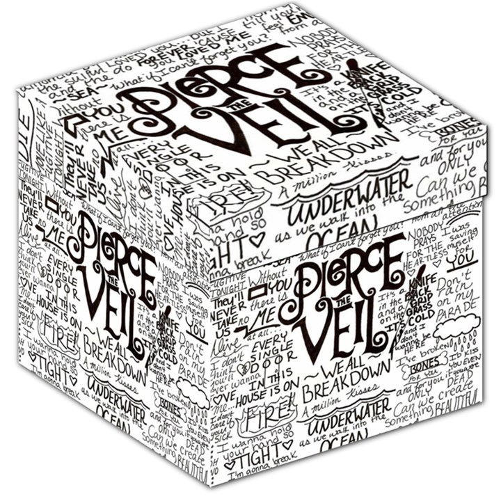 Pierce The Veil Music Band Group Fabric Art Cloth Poster Storage Stool 12