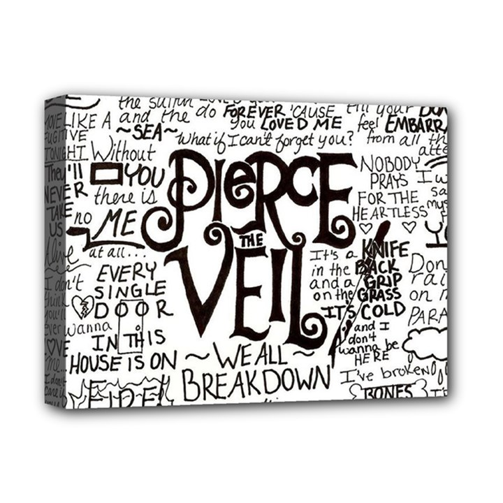 Pierce The Veil Music Band Group Fabric Art Cloth Poster Deluxe Canvas 16  x 12