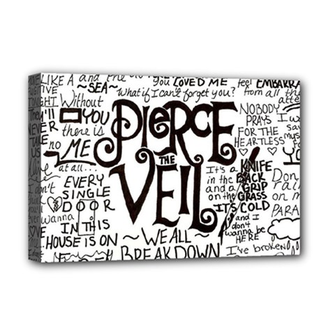 Pierce The Veil Music Band Group Fabric Art Cloth Poster Deluxe Canvas 18  X 12