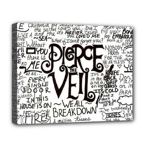 Pierce The Veil Music Band Group Fabric Art Cloth Poster Deluxe Canvas 20  X 16