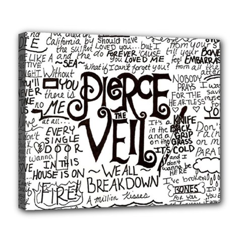 Pierce The Veil Music Band Group Fabric Art Cloth Poster Deluxe Canvas 24  x 20