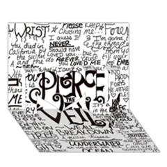 Pierce The Veil Music Band Group Fabric Art Cloth Poster I Love You 3d Greeting Card (7x5)