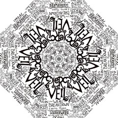 Pierce The Veil Music Band Group Fabric Art Cloth Poster Hook Handle Umbrellas (Medium)