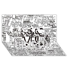 Pierce The Veil Music Band Group Fabric Art Cloth Poster Best Friends 3d Greeting Card (8x4)