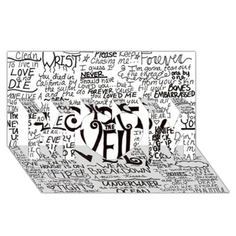 Pierce The Veil Music Band Group Fabric Art Cloth Poster MOM 3D Greeting Card (8x4)