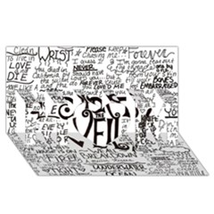 Pierce The Veil Music Band Group Fabric Art Cloth Poster MOM 3D Greeting Card (8x4)