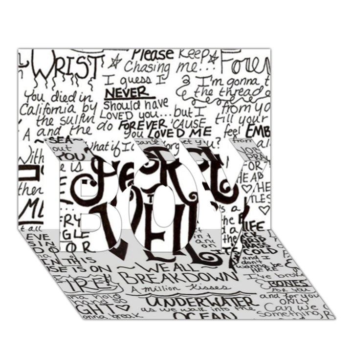 Pierce The Veil Music Band Group Fabric Art Cloth Poster BOY 3D Greeting Card (7x5)