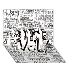 Pierce The Veil Music Band Group Fabric Art Cloth Poster GIRL 3D Greeting Card (7x5)