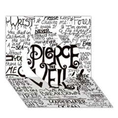 Pierce The Veil Music Band Group Fabric Art Cloth Poster Heart 3D Greeting Card (7x5)