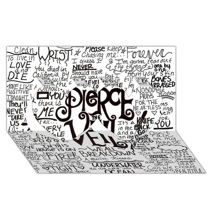 Pierce The Veil Music Band Group Fabric Art Cloth Poster Twin Hearts 3D Greeting Card (8x4)