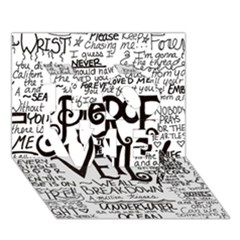 Pierce The Veil Music Band Group Fabric Art Cloth Poster Love 3d Greeting Card (7x5)