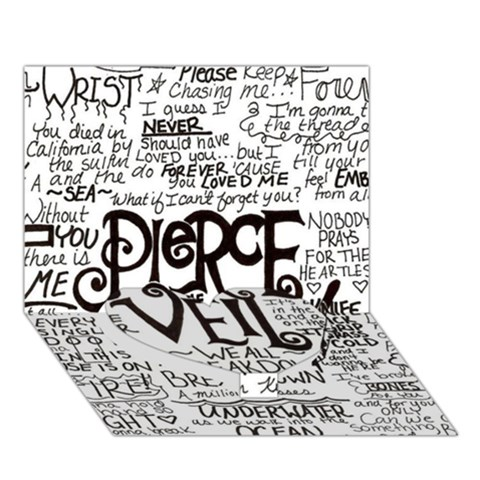 Pierce The Veil Music Band Group Fabric Art Cloth Poster Heart Bottom 3D Greeting Card (7x5)