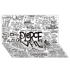 Pierce The Veil Music Band Group Fabric Art Cloth Poster Twin Heart Bottom 3d Greeting Card (8x4)