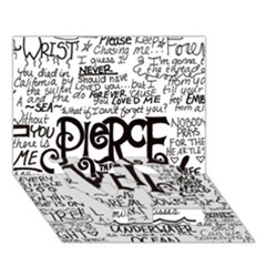 Pierce The Veil Music Band Group Fabric Art Cloth Poster Love Bottom 3d Greeting Card (7x5)