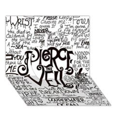 Pierce The Veil Music Band Group Fabric Art Cloth Poster Apple 3D Greeting Card (7x5)