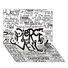 Pierce The Veil Music Band Group Fabric Art Cloth Poster Clover 3d Greeting Card (7x5)