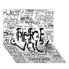 Pierce The Veil Music Band Group Fabric Art Cloth Poster Peace Sign 3D Greeting Card (7x5)