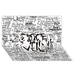Pierce The Veil Music Band Group Fabric Art Cloth Poster #1 Mom 3d Greeting Cards (8x4)
